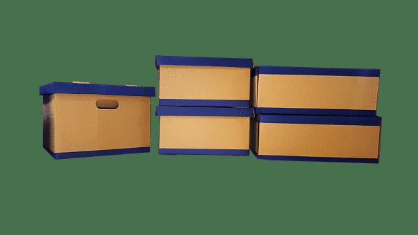 Boîte, Déplacement, Carton